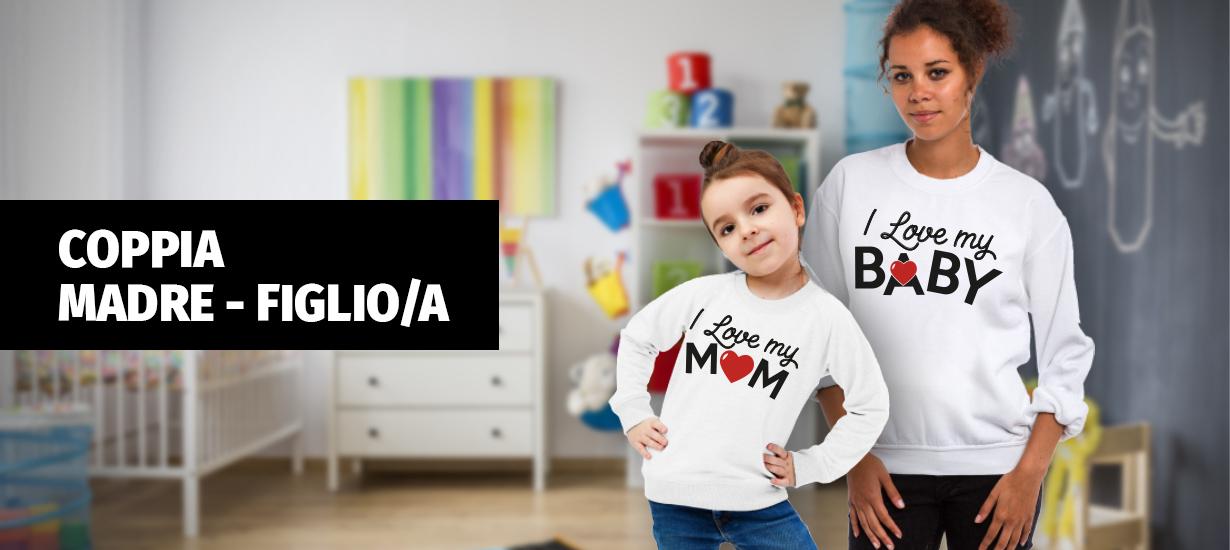 bf6a4d780759 Coppia Madre e Figlio a - Felpe - T-Shirt Donna - Abbigliamento Donna