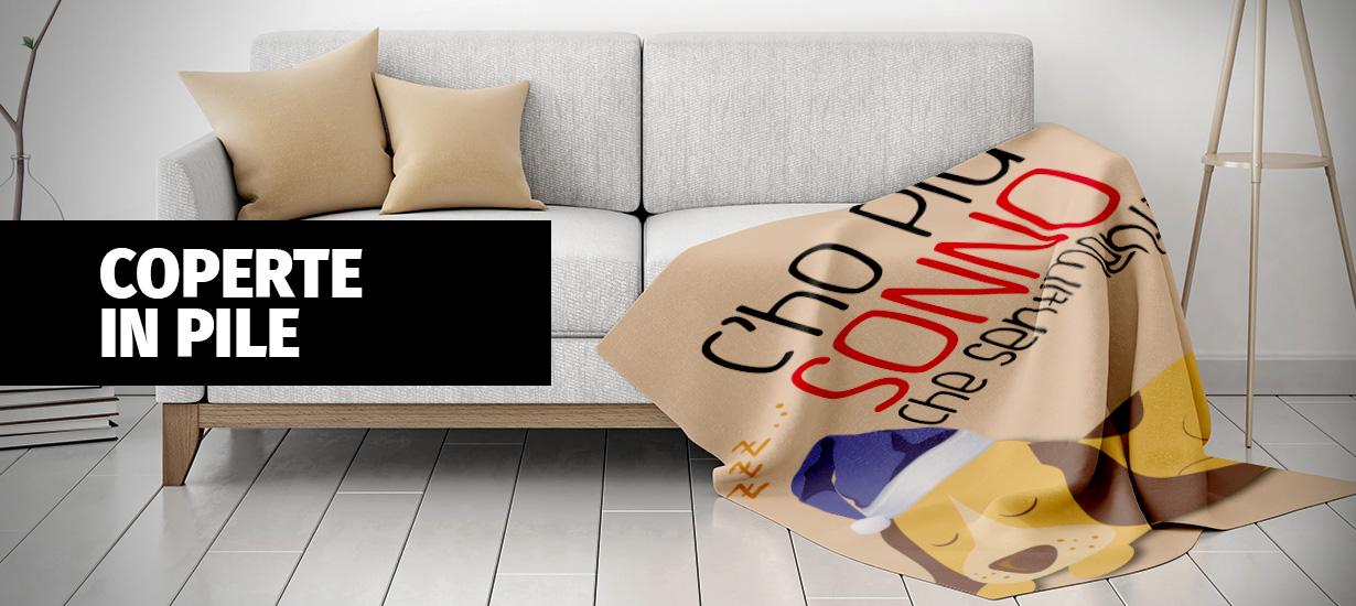 coperta plaid in pile personalizzato con le tue foto - biancheria
