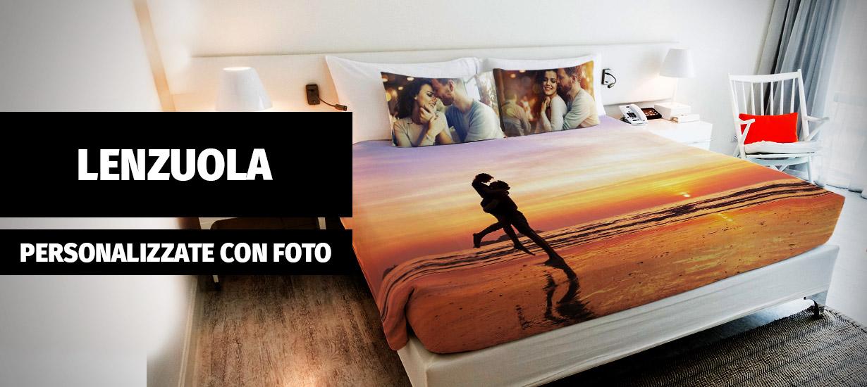 Molto Lenzuola personalizzate con foto - Biancheria da letto IS49