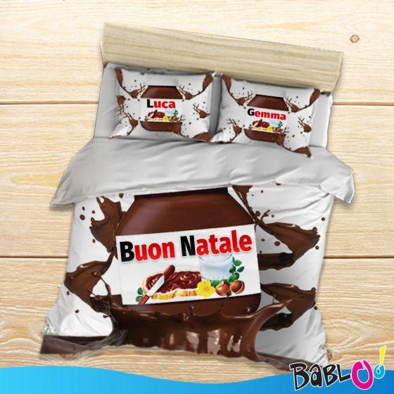 Lenzuola Matrimoniali Personalizzate.Copripiumino Lenzuolo Goloso Chocolate Con Federe Personalizzate
