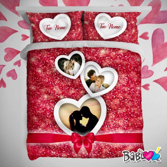 Copripiumino San Valentino.Copripiumino Lenzuolo Trapunta Love Idea Regalo San Valentino