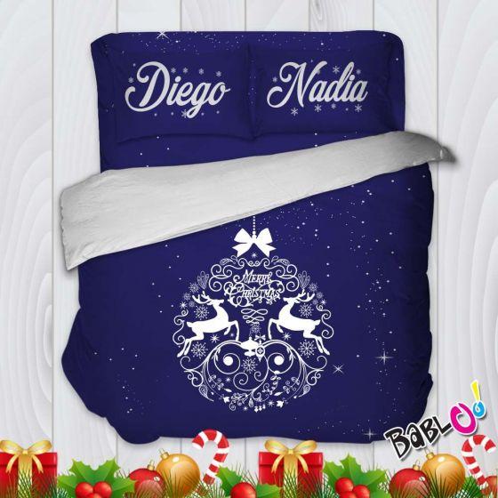 767ba0c61d Parure Trapunta Natale Set Lenzuola Federe e Copripiumino Natalizio