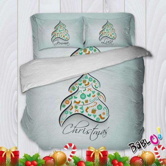 Parure Copripiumino Natale.Parure Trapunta Natale Set Lenzuola Federe E Copripiumino