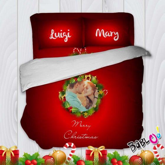 Copripiumino Natalizio Singolo.Parure Trapunta Natale Set Lenzuola Federe E Copripiumino