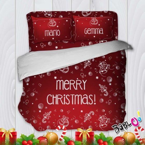 Biancheria Da Letto Natalizia.Parure Trapunta Natale Set Lenzuola Federe E Copripiumino Natalizio Christmas Symbols