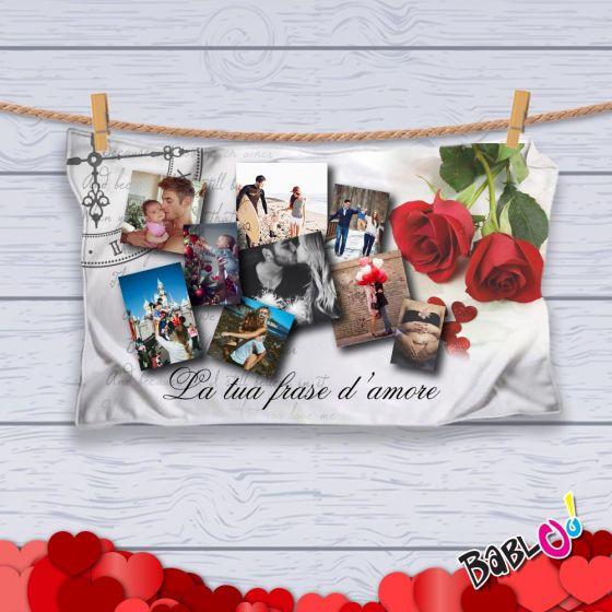 Plaid Coperta in Pile Love Idea Regalo San Valentino \