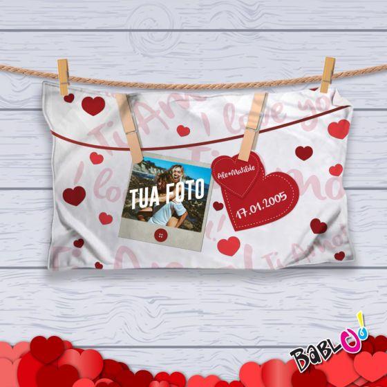 Pile Con Foto Personalizzata.Plaid Coperta In Pile Love Idea Regalo San Valentino Appendino Personalizzato Con Nomi O Frasi