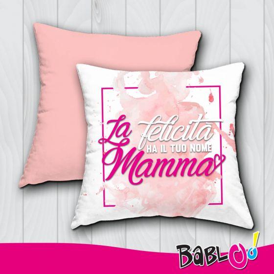 """Top Cuscino Quadrato Idea Regalo Per La Mamma """"La Felicita Ha Il Tuo  HB14"""