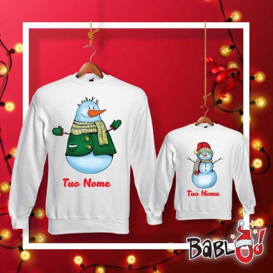 Felpa Bimbo Bambino Idea Regalo di Natale Pupazzo di Neve