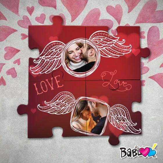 Puzzle In Legno Stampa D Arredo Love Idea Regalo San Valentino