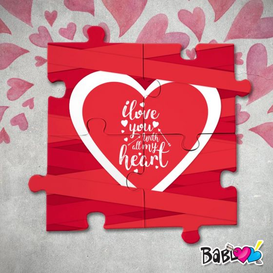 Puzzle In Legno Stampa D Arredo Love Idea Regalo San Valentino All