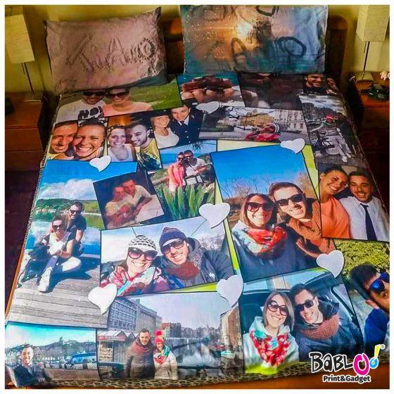 Coperta Matrimoniale Personalizzata Con Foto.Plaid Coperta In Pile Matrimoniale 200x180 Personalizzata Con Foto Frasi Testi Nomi