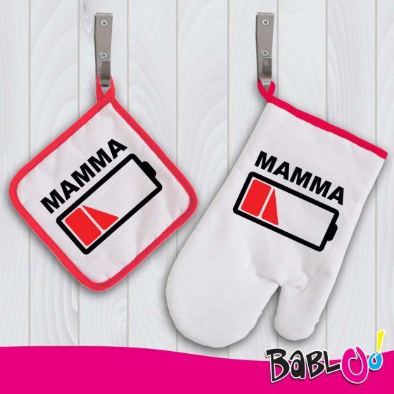 Presina e Guanto Da Cucina Regalo Per Mamma \