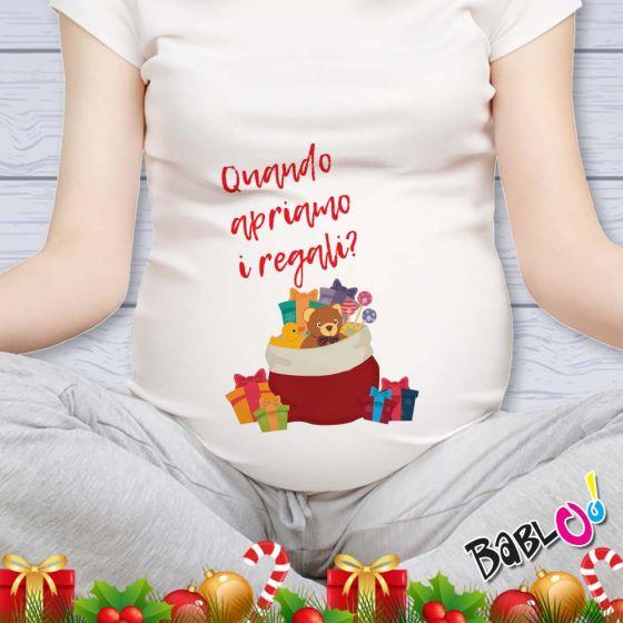 Apriamo I Regali Di Natale.T Shirt Natale Maglia Premaman Natalizia Quando Apriamo I Regali