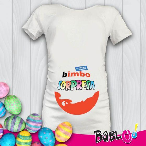 "Amato T Shirt Maglia Maglietta Premaman ""Bimbo Sorpresa"" EO89"