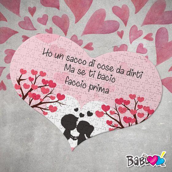 Puzzle Love Idea Regalo San Valentino Se Ti Bacio