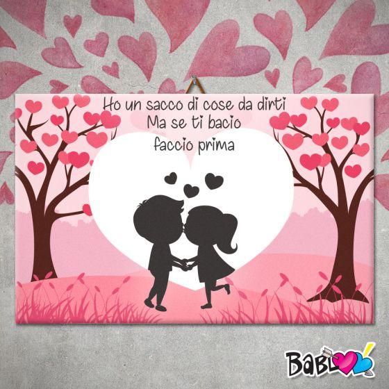 Quadro Tela Darredo Love Idea Regalo San Valentino Se Ti Bacio