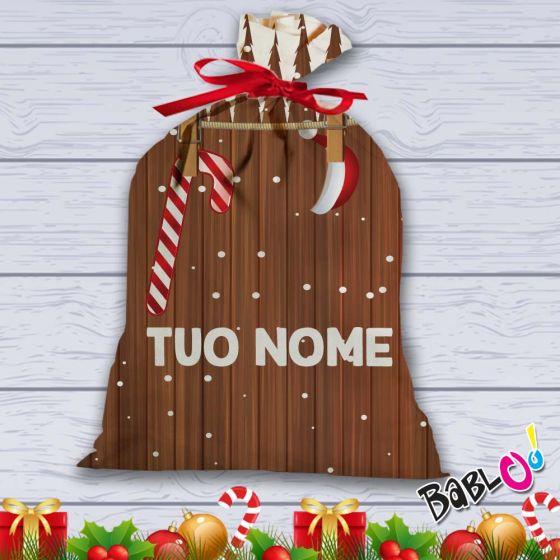 Natale Idea.Sacco Per Regali Di Natale Idea Regalo Natalizia Personalizzata Con Foto Staccionata