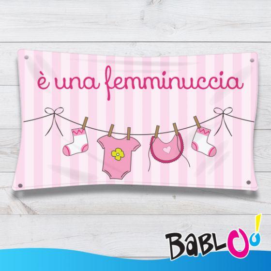 """Favorito Striscione Benvenuto """"E' Un Maschietto / E' Una Femminuccia  OF55"""