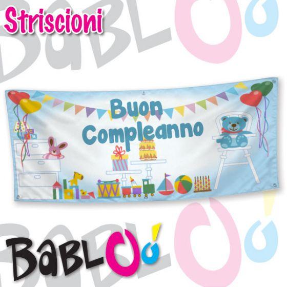 Fabuleux Striscione Personalizzato Buon Compleanno BQ42