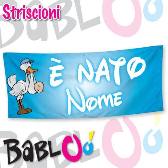 Conosciuto Striscione Personalizzato E' Nato KE78