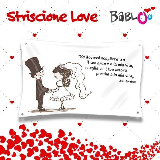 """Molto Striscione Personalizzato Idea Regalo Sposi Matrimonio """"Frase d  YM98"""