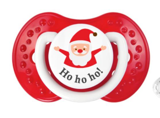 Babbo Natale Ho Ho Ho.Succhietto Ciuccio 1 Lovi Babbo Natale Hohoho Pro