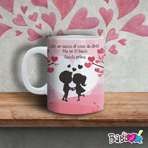 Tazza Mug Love Idea Regalo San Valentino Se Ti Bacio Love