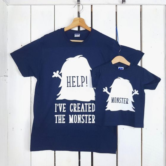 8f723d8bdb31b4 Di Figlio I've Padre Monster T Coppia Created Shirt A l1JFcTK3