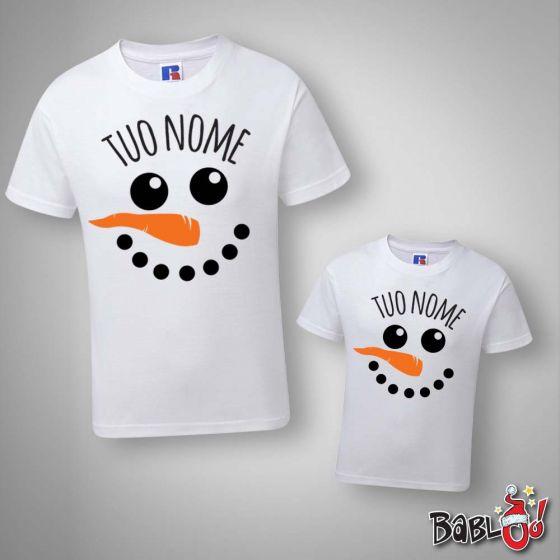 Coppia Di T Shirt Uomo Bambino Idea Regalo Di Natale Snowman