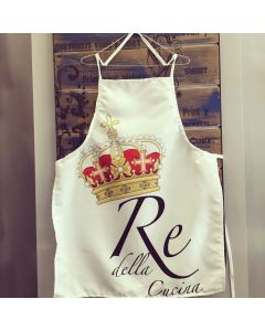 grembiule personalizzato re della cucina