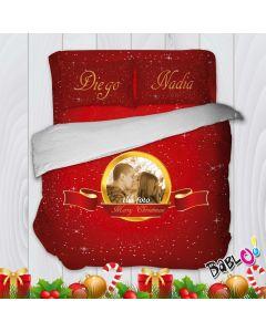 7b04f4969e Parure Trapunta Natale Set Lenzuola Federe e Copripiumino Natalizio