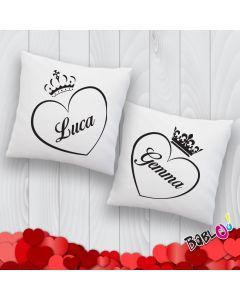 193b5eae9c Coppia Di Cuscini Love You and Me
